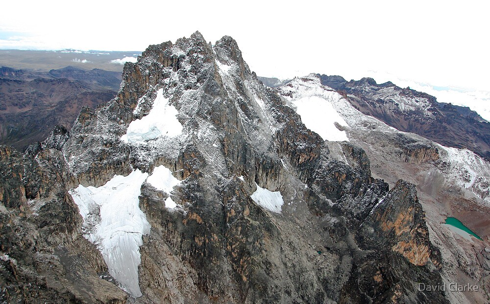 Mount Kenya - Looking South-East towards Batian & Nelion by David Clarke