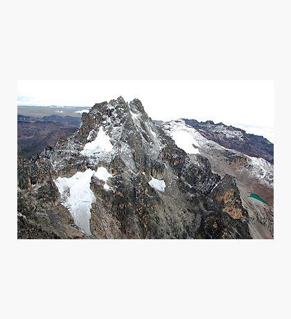 Mount Kenya - Looking South-East towards Batian & Nelion Photographic Print