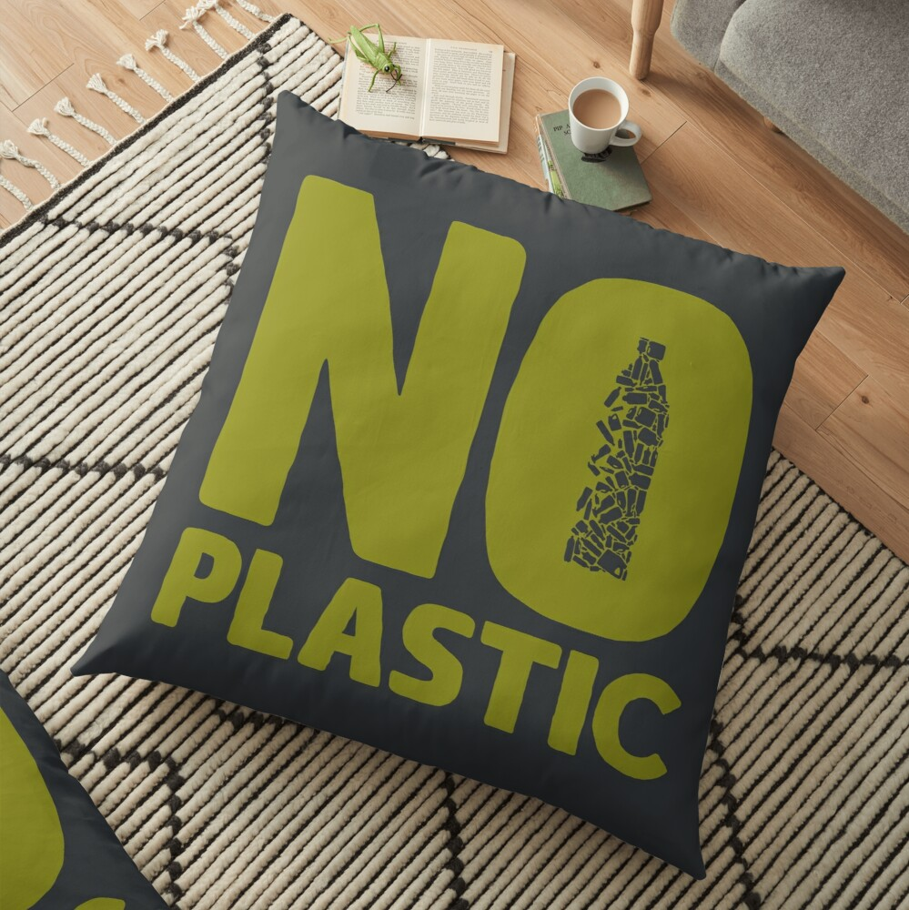 No plastic Floor Pillow