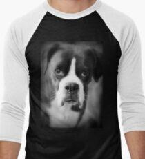 Arwen's Portrait - Female Boxer - Boxer Dogs Series Men's Baseball ¾ T-Shirt