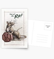 Chinese Zodiac - Year of the Rat Postcards