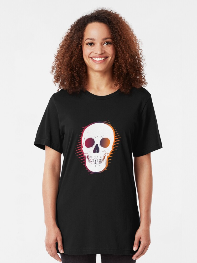 Alternate view of Colourful Skull Slim Fit T-Shirt
