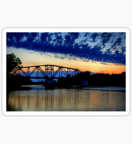 Sunset over the Taylor Bridge Sticker