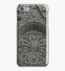 Rose window of Facia Nidaros Trondheim Norway 19840622 0013 iPhone Case/Skin