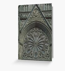Rose window of Facia Nidaros Trondheim Norway 19840622 0013 Greeting Card