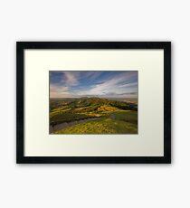 Sunset From British Camp - The Malvern Hills Framed Print