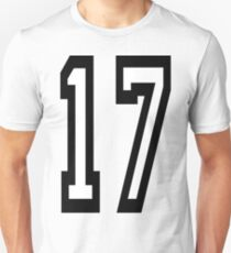 17, TEAM SPORTS, NUMBER 17, SEVENTEEN, SEVENTEENTH, ONE, SEVEN, Competition,  Slim Fit T-Shirt