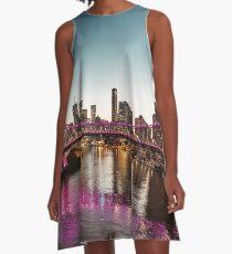 brisbane skyline at dusk A-Line Dress