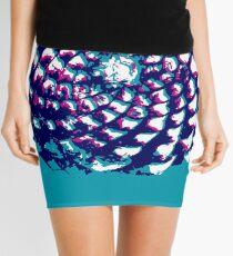 pine cone in aqua, purple and indigo Mini Skirt