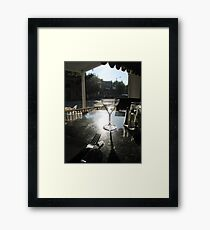 Gibson stirred, not shaken Framed Print