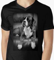 Vermisst dich - Boxer Dogs Series T-Shirt mit V-Ausschnitt