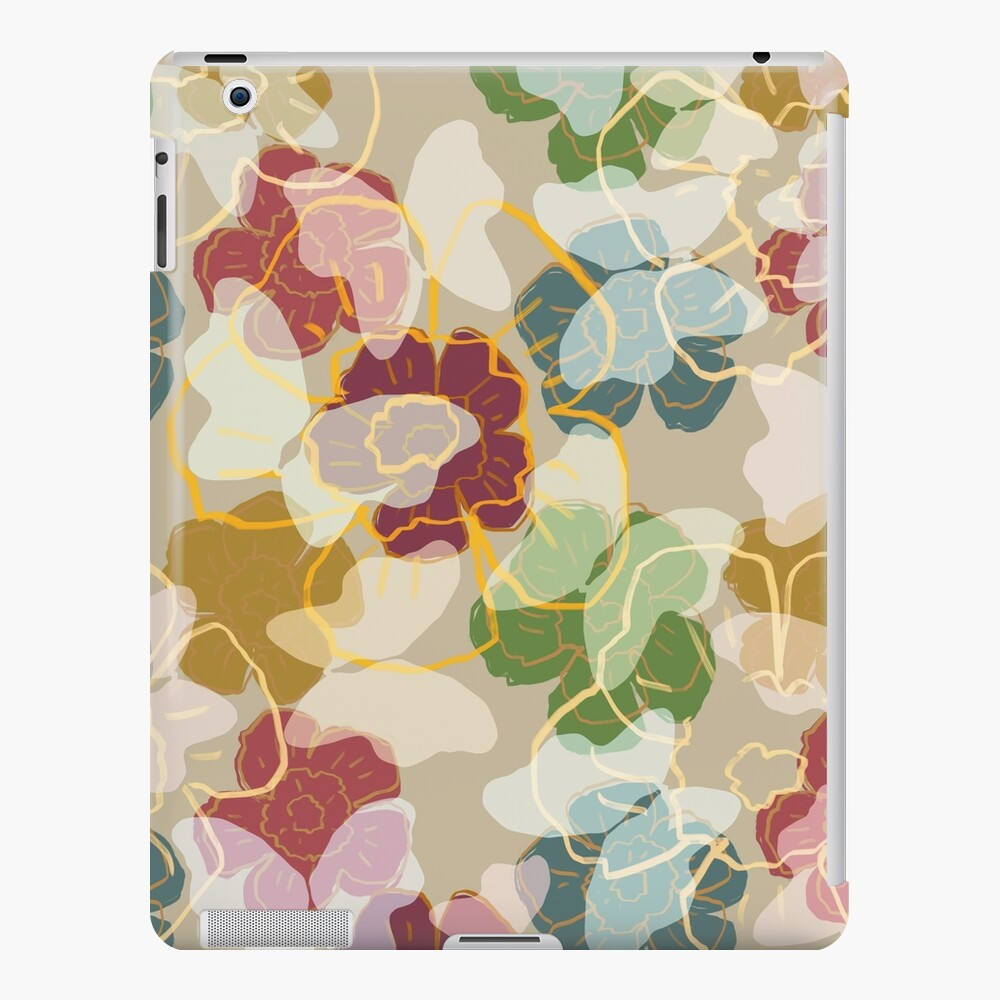 Butterflowers Cream iPad Case & Skin