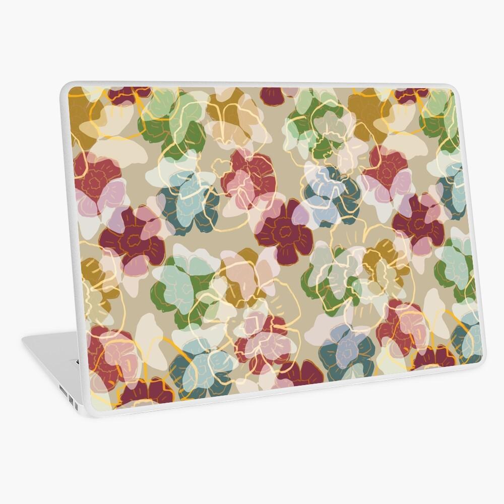 Butterflowers Cream Laptop Skin
