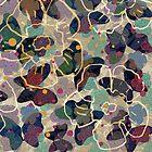 Butterflowers French Grey by BigFatArts