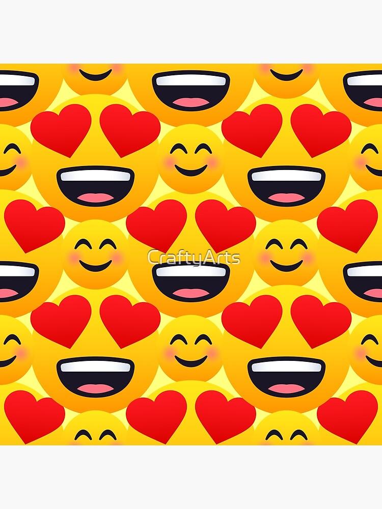 Love emojis pattern by CraftyArts
