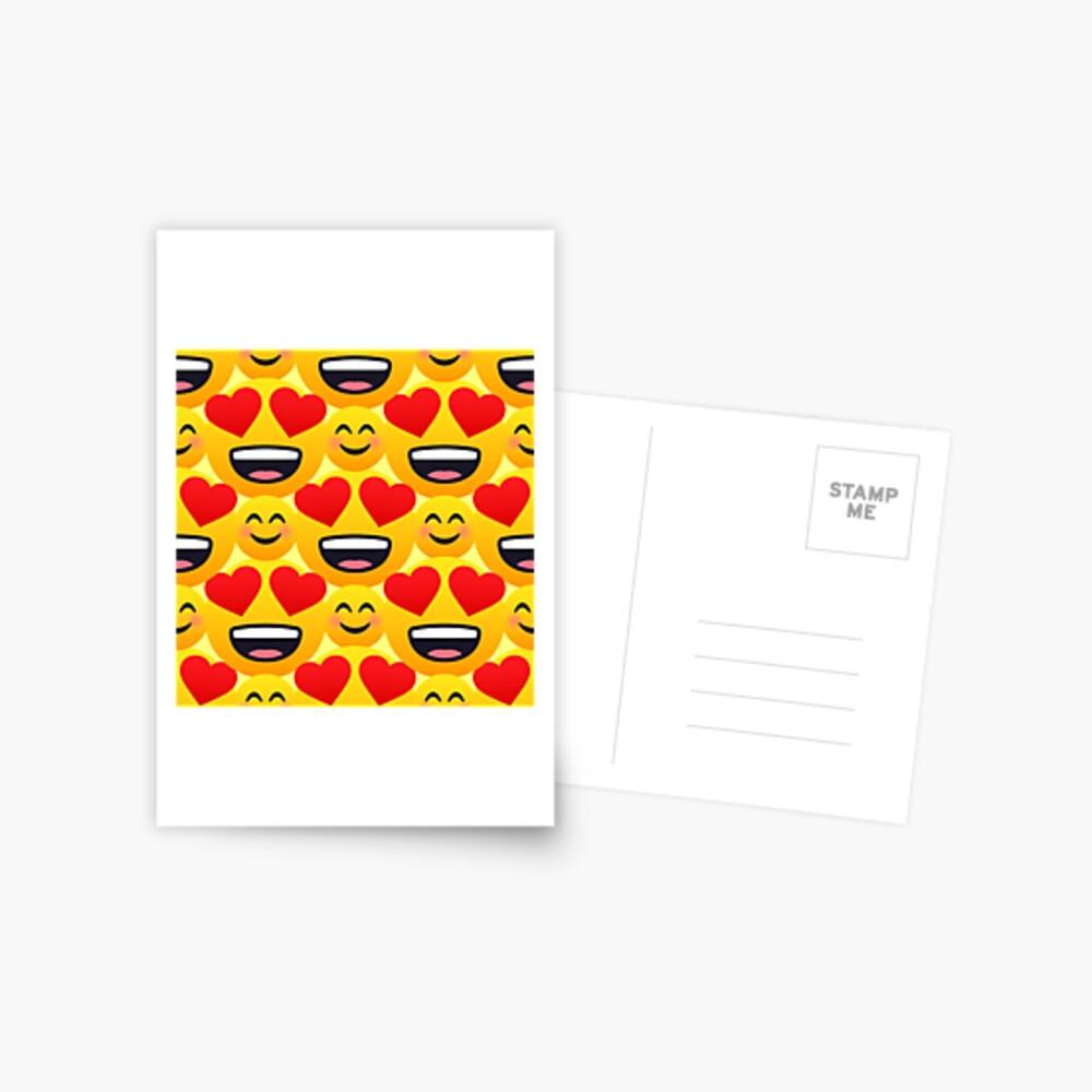 Love emojis pattern Postcard