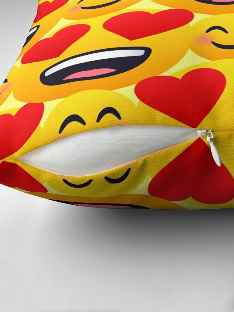 Alternate view of Love emojis pattern Floor Pillow