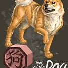 Year of the Dog (for dark shirts) by Stephanie Smith