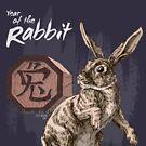Year of the Rabbit by Stephanie Smith (for dark shirts) by Stephanie Smith