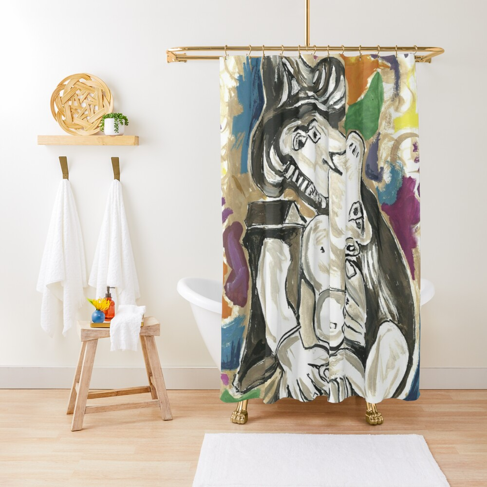Pablo Picasso The Kiss 1930 Artwork for Men, Women, Kids, Posters, Canvas, Tshirts Shower Curtain