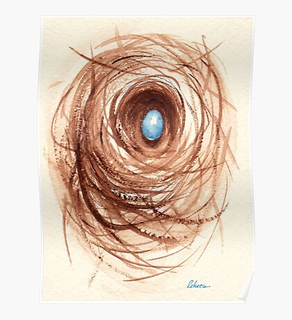 Nesting - original watercolor painting Poster
