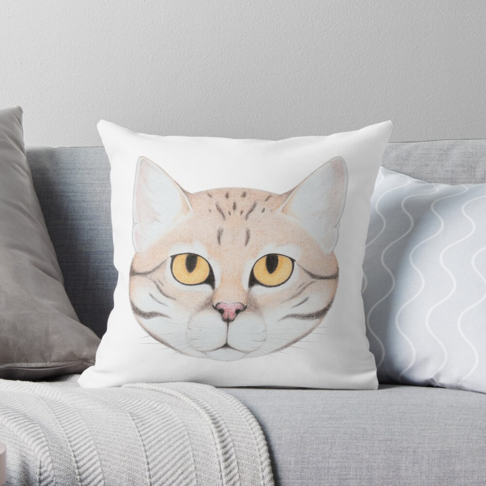Black-footed Cat Throw Pillow