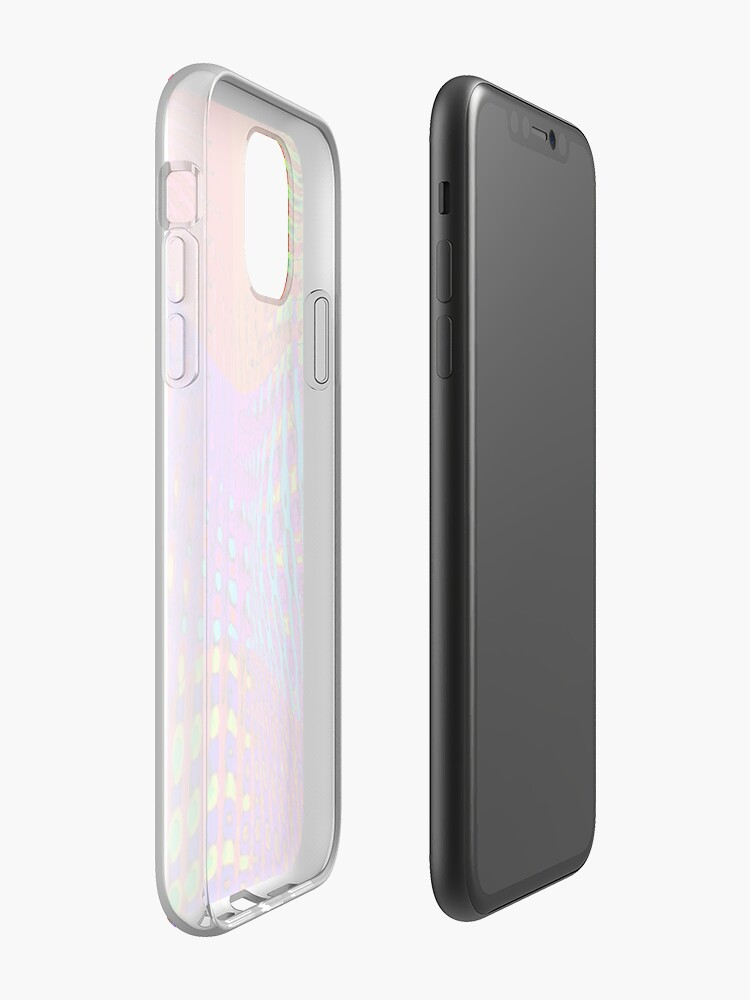 coque contour iphone x | Coque iPhone « Eruption arc-en-ciel .... », par JLHDesign