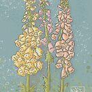Foxgloves in the Breeze by Niki Jackson