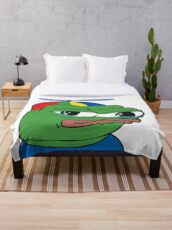 Apu Apustaja PepeTheFrog The Helper Hat Sad crying pepe Kekistan wall eyed pepe HD HIGH QUALITY ONLINE STORE Throw Blanket