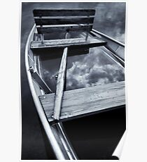 Sad little boat full of water Poster