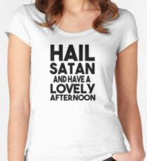 HAIL SATAN Women's Fitted Scoop T-Shirt