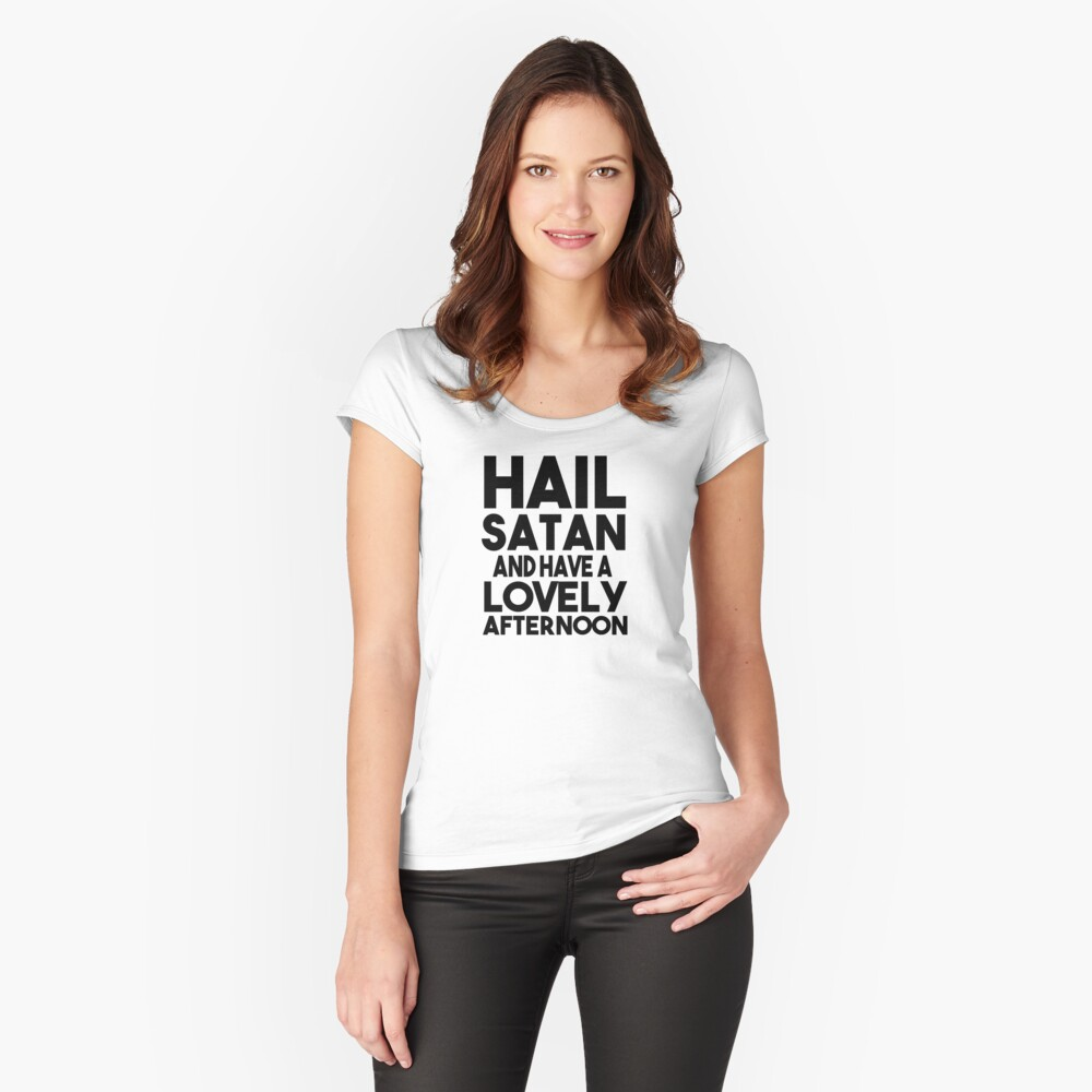 HAIL SATAN Women's Fitted Scoop T-Shirt Front
