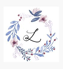 Flowers and the Letter L Photographic Print