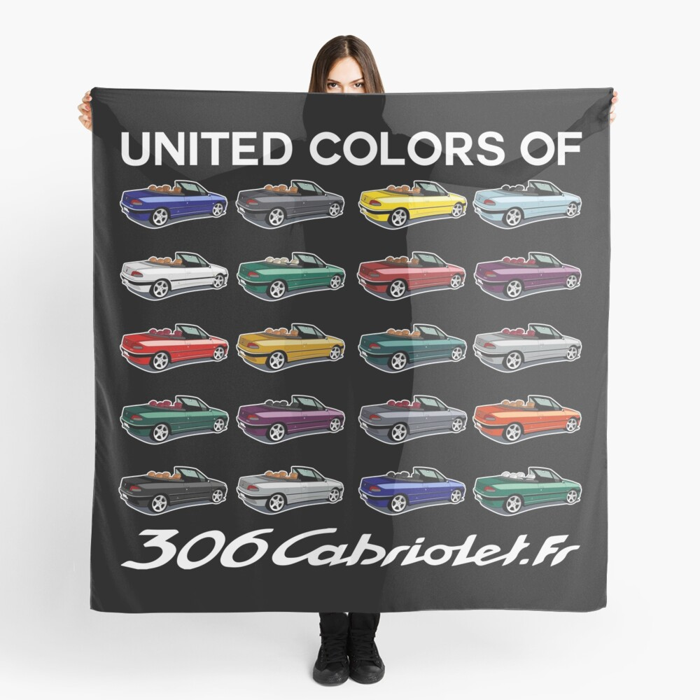 United Colors - Second Gear [ Fond Noir ] Foulard