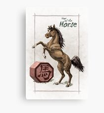 Chinese Zodiac - Year of the Horse Canvas Print