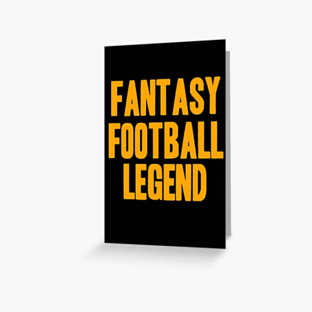 Fantasy Football Legend Tarjetas de felicitación