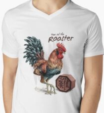 Year of the Rooster Men's V-Neck T-Shirt