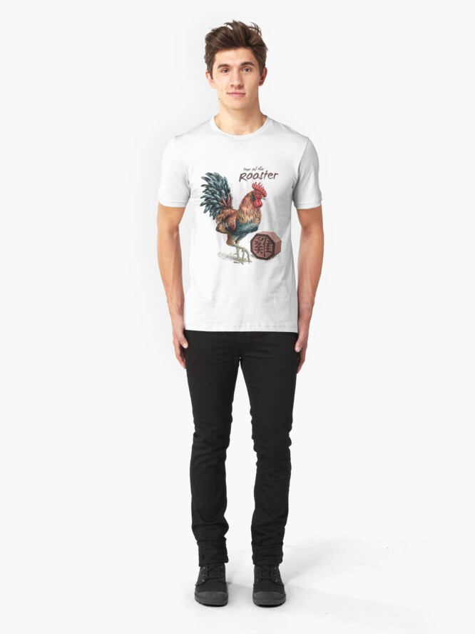 Alternate view of Year of the Rooster Slim Fit T-Shirt