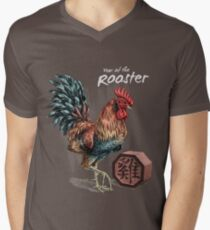 Year of the Rooster (for dark shirts) Men's V-Neck T-Shirt