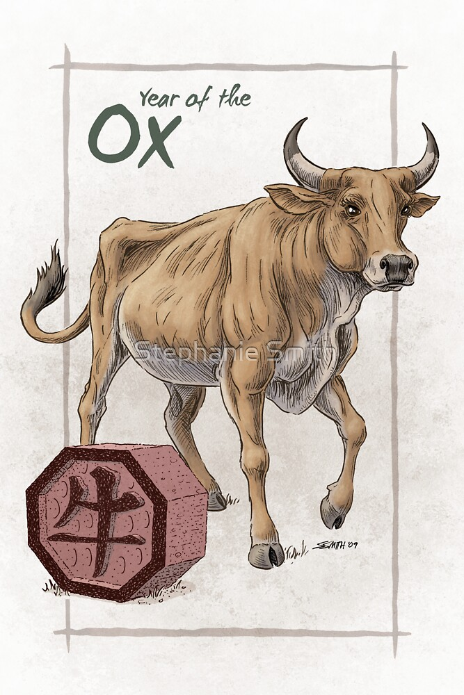 chinese zodiac the ox by stephanie smith redbubble. Black Bedroom Furniture Sets. Home Design Ideas