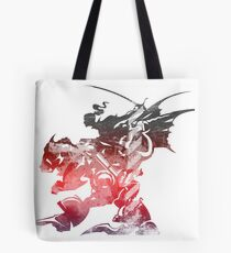 Final Fantasy VI logo grunge Tote Bag