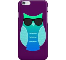 Cool Aqua Owl iPhone Case/Skin