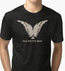 Wings Need To Be Earned Tri-blend T-Shirt