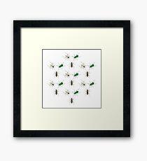 Tiger Beetle Pattern Framed Print