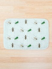 Tiger Beetle Pattern Bath Mat