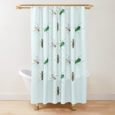 Tiger Beetle Pattern Shower Curtain