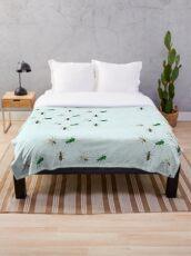 Tiger Beetle Pattern Throw Blanket