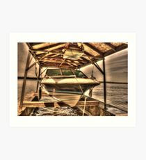 Boat out of water Art Print