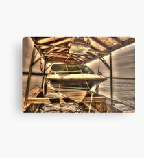 Boat out of water Metal Print