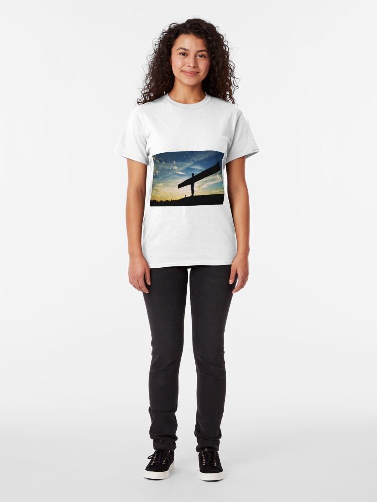 Alternate view of Angel of the North, Sunset, Newcastle-Gateshead Classic T-Shirt